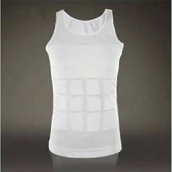 Hommes Casual Body Slimming Tummy Shaper Belly Underwear Shapewear Shirt