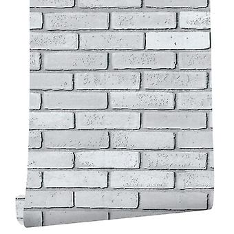 Self-adhesive Wallpaper Three-dimensional, White Pattern Background, Pvc