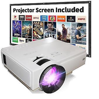 Heimkinoprojektor 6000 Lumen Videoprojektor Kompatibel mit TV Stick PS4 HDMI USB AV