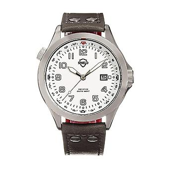 Shield Palau Quartz White Dial Men's Watch SLDSH104-2