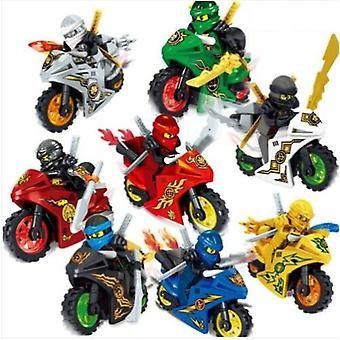 8pc Motorcycle Ninjago Mini Figures
