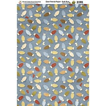 Nitwit Collection - DF Bulb Blue Paper A4 10 Sheets