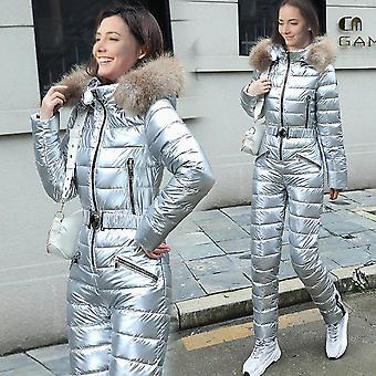 Zimné ski jumpsuit vodotesné, vetruodolné priedušné zasnežené teplé kapucne