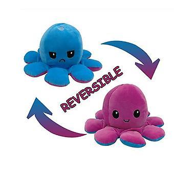 Lindo pulpo peluche juguetes de doble cara flip pulpo muñeca suave pulpo reversible peluche muñeca de animales