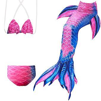 حورية البحر فتاة ملابس السباحة ثلاث قطع بيكيني الذيل للسباحة jp148