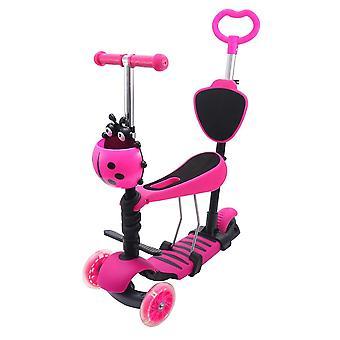 Mini Kick Wheel Scooter, Flashing Led Wheels, Tilt Push Seat, Kids,, Fun Sport