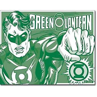 Vihreä lyhty retro-tin-merkki