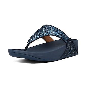 FitFlop Lulu Glitter™ Toe Post Sandals In Midnight Navy