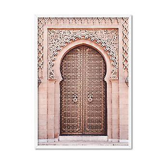 Marokańskie drzwi w rumieniec Art Print