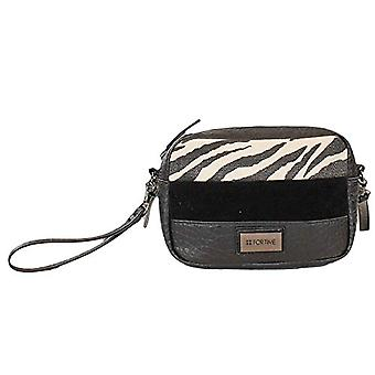 For Time Bandolera Peque a Zebra - Women's Crossbody Bags, Black (Negro), 6x14x18 cm (W x H L)