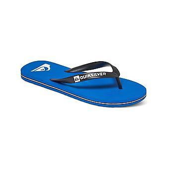 Quiksilver Molokai Flip Flops in Black/Blue/Black