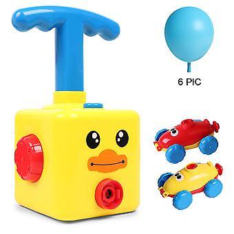 Воздушный шар автомобиль, Ballon насос воздушный шар power Car Toy Set для детей, научный эксперимент разведки Образование Дошкольное Детские игрушки, Маленькая желтая утка