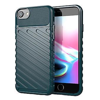 Tpu Kohlefaser-Gehäuse für iphone 6/6s dunkelgrün mfkj-2082