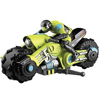 RC Stunt Car Motorcycle Electric 360 Degree Drift Racing Motorbike Boy Toys for Children Xmas(Green)