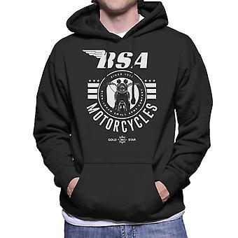 BSA Motorcycles Gold Star Men's Hooded Sweatshirt