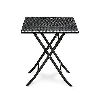 Stolik kawowy składany 62 x 62 cm – Rattan wygląda na czarny