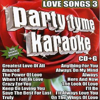 Party Tyme Karaoke - Party Tyme Karaoke: Vol. 3-Love Songs [CD] USA import