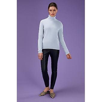 Loop Cashmere Polo Neck Sweater In Whisper