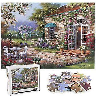 1000Pcs decompression jigsaw educational puzzles toys,children's garden puzzle az21001