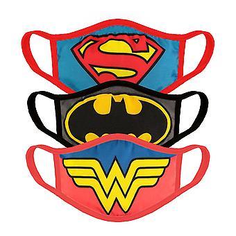 DC Comics - Symbols Face Mask (3-Pack Set) - Multi-Colour
