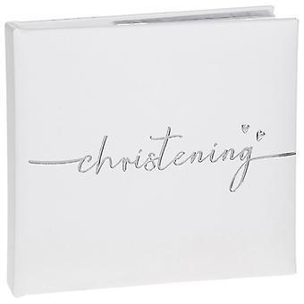 Modern Script Christening Album Large 4x6