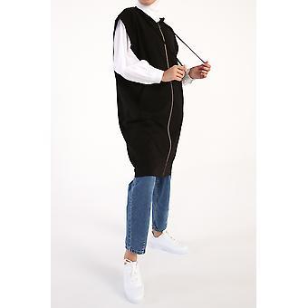 Kangaroo Pocket Zippered Pockets Vest