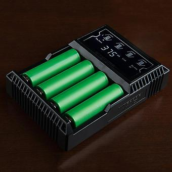 D4 Lcd Battery Charger For Aa/26650/18650/14500/18350/16340 Us Plug