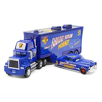 Cars Cargo Truck Trailer 51 Champion Racing Car Diecast Alloy Cars Model Toy Children's Gift