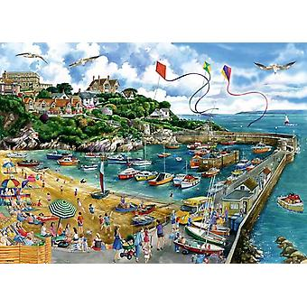 Falcon Deluxe Newquay Harbour pussel (1000 stycken)