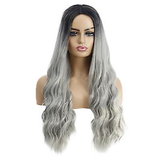 Brand Mall Wigs, Lace Wigs, Realistic Fluffy Long Hair Wavy Curly Hair Personalized Wigs
