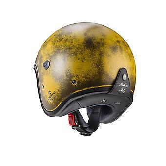 Caberg Freeride borstad öppen ansikte motorcykelhjälm gul