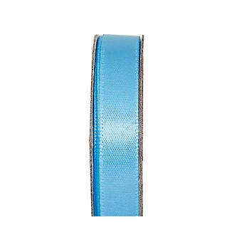 SISTA FÅ - 3m lugnande blå 10mm bred satin hantverk band