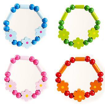 Pretty Flower Wooden Bracelet for Girls - Cracker Filler Gift