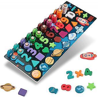 Holz Montessori Spielzeug Passende Spiele Pädagogisches Holzpuzzle für Kinder