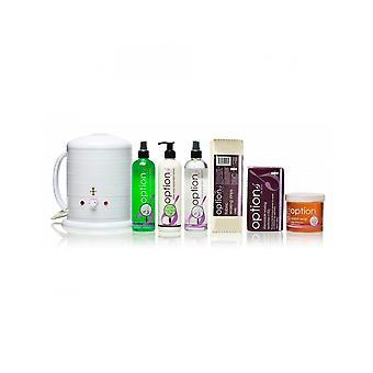 Hive Of Beauty Waxing No 1 Heater 1 Litre Warm Honey Wax Hair Removal Kit