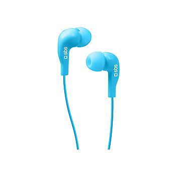In ear headphones SBS TEINEARBL 3.5 mm Blue