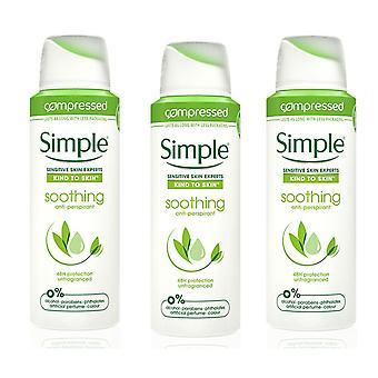 Enkel antiperspirant deodorant, lugnande, 3-pack, 125 ml