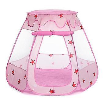 الأطفال طفل خيمة المحيط الكرة حفرة تجمع لعبة البيت كيد لعبة (الوردي)