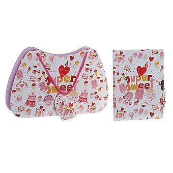 Agenda avec accessoires DKD Home Decor Pink (27 x 4,3 x 17,5 cm) (13,3 x 0,7 x 18 cm)