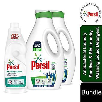 2x53W Persil Bio Laundry Liquid Detergent & 12W Persil Antibac Laundry Sanitiser