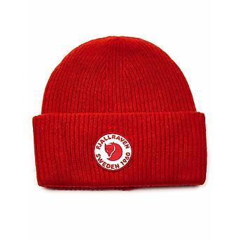 Fjällraven 1960 Logo Beanie Hattu - Todellinen punainen