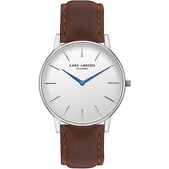 LLarsen (Lars Larsen Brown Genuine Leather) 147SWD/BLSS20 Men's Watch