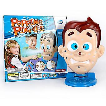 Pretend professions role playing simulate face shape squeeze acne toy popping pimple parent child board game |gags practical