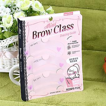 3 Styles Brow Shaping Guide Template Eyebrow Drawing Card Make-up Stencil