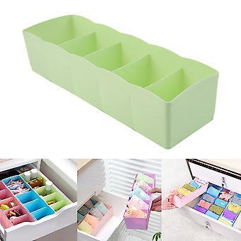 Five Grids Multifunction Underwear Socks Tiny Things Storage Box Plastic Finishing Box Drawer Desk Bed Cabinet