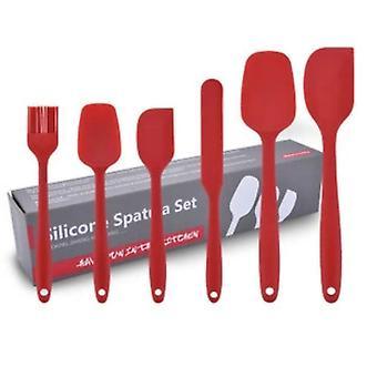 6st Värmebeständiga Silikon köksredskap Set Nonstick Matlagningsverktyg Köksbakverktyg Kit Redskap för tårtdekoration Kök