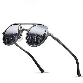 Mens Runda Metall Solglasögon Retro Vintage Anti-uv