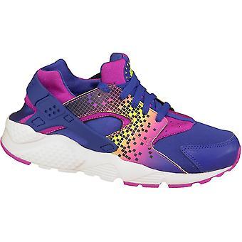 Nike Huarache Run печати Gs 704946-500 детей кроссовки
