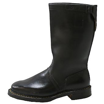 Genuine Leather Black German Military Boots