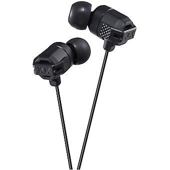 JVC In-Ear Headphones-Black (HAFX102B)